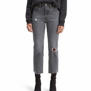 Levi's Wedgie High Waist Crop Straight Leg Jeans